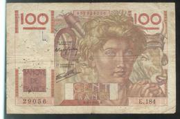 Billet 100 Francs France Jeune Paysan 9-1-1947 M Etat Moyen - 1871-1952 Antichi Franchi Circolanti Nel XX Secolo