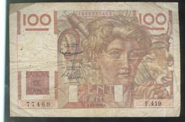 Billet 100 Francs France Jeune Paysan 7-2-1952 A Etat Moyen - 1871-1952 Antichi Franchi Circolanti Nel XX Secolo