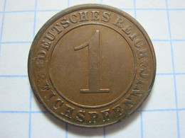 1 Reichspfennig 1924 (A) - [ 3] 1918-1933 : República De Weimar