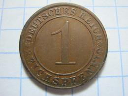 1 Reichspfennig 1924 (A) - [ 3] 1918-1933 : Weimar Republic