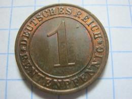 1 Rentenpfennig 1924 (A) - [ 3] 1918-1933 : Weimar Republic