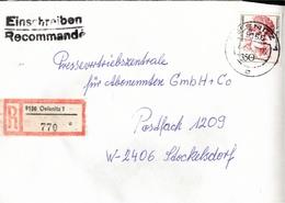 ! 1 Einschreiben 1992 Mit Alter Postleitzahl + DDR R-Zettel  Aus 9156 Oelsnitz, Sachsen - [7] République Fédérale