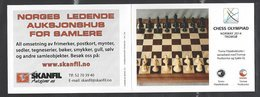 Chess, Norway Tromso, 2014 Olympiad Booklet Issued By Tromso PhilatelicSociety - Echecs