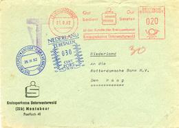 (k7085) Brief Bund St. AFS Montabauer N. Den Haag Niederlande Tax St. - BRD