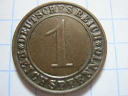 1 Reichspfennig 1924 (J) - [ 3] 1918-1933 : Weimar Republic