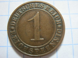 1 Reichspfennig 1925 (A) - [ 3] 1918-1933 : República De Weimar