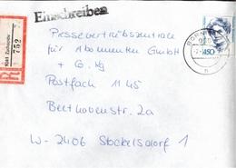 ! 1 Einschreiben 1992 Mit Alter Postleitzahl + DDR R-Zettel  Aus 9361 Zschopau, Börnicken, Sachsen - [7] Federal Republic