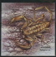 Mua841 FAUNA 'INSECT SPINNEN SPIDERS' SCHORPIOEN SCORPIONSKORPION STAMPS TANZANIA 1994 PF/MNH - Spinnen