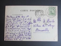 137 - Uitgifte 1915 - PK(Clocher Central)  Verstuurd Uit Tournai/Doornik - 1915-1920 Albert I