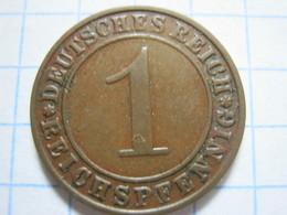 1 Reichspfennig 1927 (D) - [ 3] 1918-1933 : República De Weimar