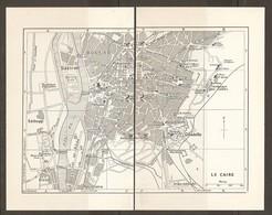 CARTE PLAN 1953 - EGYPTE EGYPT EGITTO - LE CAIRE CAIRO - GEZIREH BOULAQ GIZEH Ed DUQQI CITADELLE - Cartes Topographiques