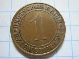 1 Reichspfennig 1927 (A) - [ 3] 1918-1933 : República De Weimar