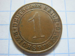 1 Reichspfennig 1927 (A) - 1 Rentenpfennig & 1 Reichspfennig
