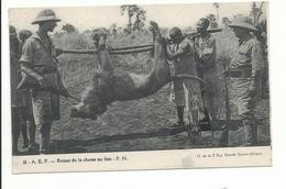 CENTRE AFRIQUE Citroên Retour De La Chasse Au Lion - Centrafricaine (République)