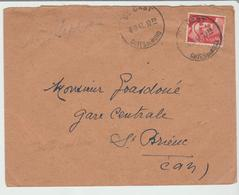 Côtes Du Nord:  St CAST CàD Type Horoplan / LSC De 1947 Date Améliorée > St Brieuc TB - Storia Postale