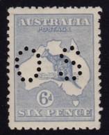 Australia 1915 Kangaroo 6d Blue 3rd Watermark Perf OS MNH - Mint Stamps