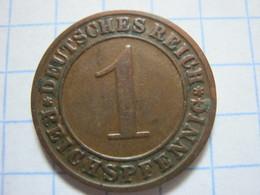 1 Reichspfennig 1928 (G) - [ 3] 1918-1933 : República De Weimar
