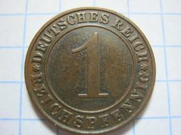 1 Reichspfennig 1929 (A) - [ 3] 1918-1933 : República De Weimar