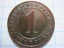 1 Reichspfennig 1929 (E) - [ 3] 1918-1933 : República De Weimar