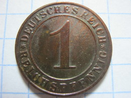 1 Reichspfennig 1929 (E) - [ 3] 1918-1933 : Weimar Republic