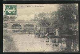 CPA Mazè, Le Pont De Guè - France