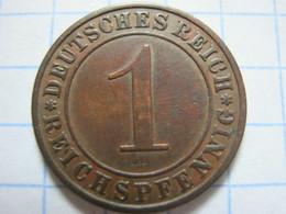 1 Reichspfennig 1931 (A) - [ 3] 1918-1933 : República De Weimar