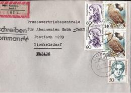 ! 1 Einschreiben  1993 Mit Alter Postleitzahl + DDR R-Zettel  Aus 9801 Reichenbach, Limbach, Sachsen - Briefe U. Dokumente
