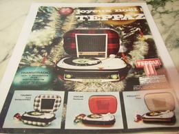 ANCIENNE PUBLICITE JOYEUX NOEL ELECTROPHONE TEPPAZ 1965 - Autres