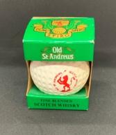 Old St.Andrews Scotch Whisky. Bouteille Miniature Sous Forme De Balle De Golf. 5 Cl. Pas Ouverte. Golf. - Whisky