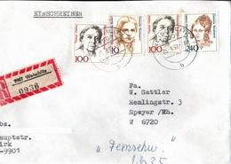 ! 1 Einschreiben  1992 Mit Alter Postleitzahl + DDR R-Zettel  Aus 9907 Weischlitz, Sachsen - Storia Postale