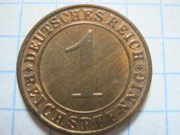 1 Reichspfennig 1931 (F) - [ 3] 1918-1933 : República De Weimar