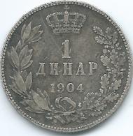 Serbia - Peter I - 1 Dinar - 1904 - KM25.1 - Serbia