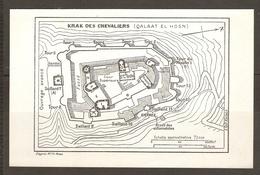 CARTE PLAN 1953 - SYRIE SYRIA SIRIA - KRAK Des CHEVALIERS - QALAAT El HOSN - Topographische Kaarten