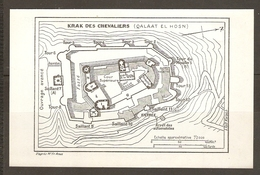 CARTE PLAN 1953 - SYRIE SYRIA SIRIA - KRAK Des CHEVALIERS - QALAAT El HOSN - Topographical Maps