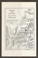 CARTE PLAN 1953 - EGYPTE EGYPT EGITTO - TOMBES Des CALIFES D'après Le Plan De M. MAX HERZ BEY - OMEYYADES - Topographische Kaarten
