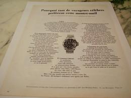 PUBLICITE  MONTRE VOYAGEUR CELEBRE ROLEX 1965 - Advertising