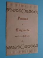 FERNAND Et MARGUERITE Unis Le 19 Juillet 1927 à BRUGES > Fam. BAELDE ....... ( Voir / Zie Foto's Voor Detail ) ! - Menus