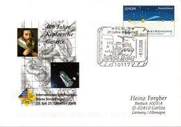 """BRD Amtl.GZS-Umschlag USo .... """"400 Jahre Keplersche Gesetze"""" SSt. 9.11.2009 BERLIN - Buste - Usati"""