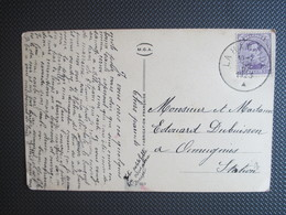 139 - Uitgifte 1915 -PK (Anjer) Verstuurd Uit La Hamaide - 1915-1920 Albert I