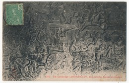 CPA - CAMBODGE - ANGKOR-VAT - Bas Reliefs - Scènes De Guerre - Cambodge