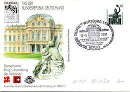 "BRD Privatganzsachen-Sonderpostkarte PP152 D2/043e ""TRILATERALE WÜBA'91"" SST 12.5.1991 WÜRZBURG 1 - Cartoline Private - Usati"