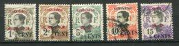 13957 YUNNANFOU  N° 50/1, 53,54, 55 */ ° Timbres D'Indochine De 1919 Avec Surcharge En Cents    1919   B/TB - Nuovi