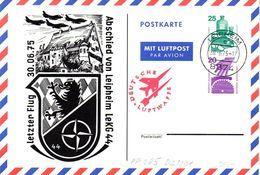 """(BPGS) BRD Privatganzsachen-Postkarte Bundeswehr PP085 D2/001 """"Abschied Von Leipheim LeKG44"""" TSt 30.6.75 LEIPHEIM - [7] Repubblica Federale"""
