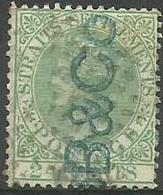 Straits Settlements - 1867 Queen Victoria 24c Green Used (Crown CC)    Sc 15 - Straits Settlements