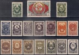 Russia 1947, Michel Nr 1092-1108, MLH OG - 1923-1991 URSS