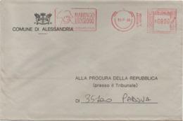 Tematica Comuni D'Italia: Affrancatura Meccanica Rossa Comune Di Alessandria Su Busta 31.07.2000 Napoleone Napoleon - Affrancature Meccaniche Rosse (EMA)