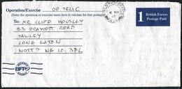 2003 GB Kuwait British Army Gulf War Operation Telic Airletter. Field Post Office HQ 7 ARMD BDE. Major Cotterill B.F.P.O - 1952-.... (Elizabeth II)