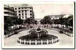 Algerie CPA Ain Temouchent Place Gambetta Et Rue De La Poste - Algerien
