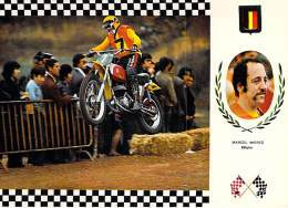 MOTOS  MOTOCROSS : Marcel WIERTZ ( Belgique Belgium ) Sur Moto BULTACO (Espagne ) 32.8 C.V.- CPSM GF - - Motociclismo