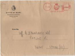 Tematica Comuni D'Italia: Affrancatura Meccanica Rossa Città Di Bari Su Grande Busta 07.04.1998 - Affrancature Meccaniche Rosse (EMA)